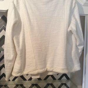 Sweaters - Cream Motto style sweater/top sz 1X Dressbarn